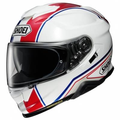 Shoei Helm GT-Air II Panorama TC-10, weiß-blau-rot