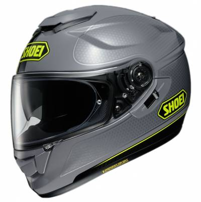 Shoei Helm GT-Air Wanderer 2 TC-10, grau-neongelb