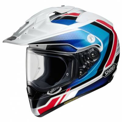 Shoei Helm Hornet-ADV Sovereign TC-10, weiß-blau-rot