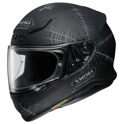 Shoei Helm NXR Dystopia TC-5, schwarz-grau-rot
