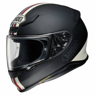 Shoei Helm NXR Equate TC-10, blau-rot-schwarz