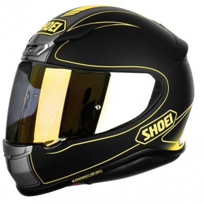Shoei Helm NXR Flagger Ltd TC-3, schwarz-grau-neongelb matt