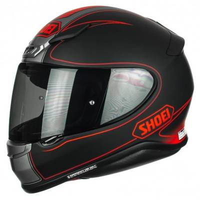 Shoei Helm NXR Flagger TC-1, schwarz-grau-rot-matt