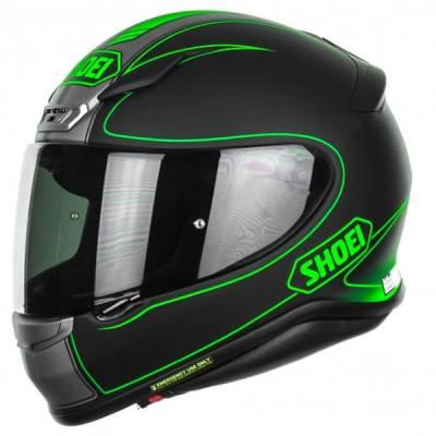 Shoei Helm NXR Flagger TC-4, schwarz-grau-neongrün-matt
