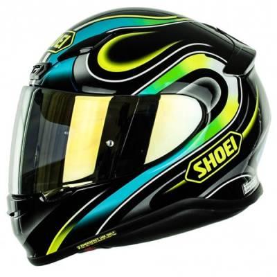 Shoei Helm NXR Intense TC-3, schwarz-blau-gelb