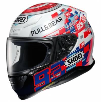 Shoei Helm NXR Marquez PowerUp TC-1,  schwarz-weiß-blau-rot