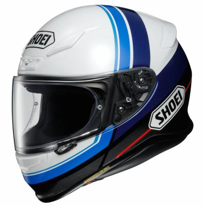 Shoei Helm NXR Philosopher TC-2, weiß-schwarz-blau