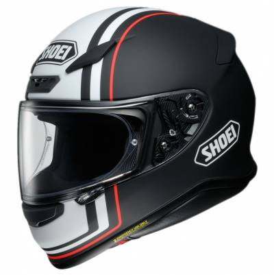 Shoei Helm  NXR Recounter TC-5, schwarz-weiß-rot matt
