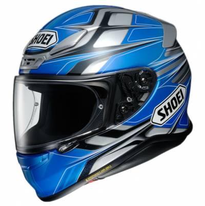 Shoei Helm NXR Rumpus TC-2, blau-grau-schwarz