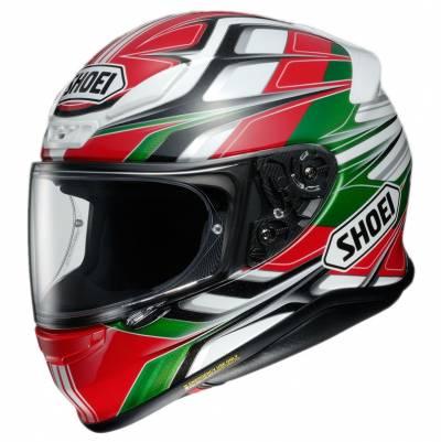 Shoei Helm NXR Rumpus TC-4, rot-weiß-grün-schwarz