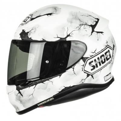 Shoei Helm NXR Ruts TC-6, weiß-grau-schwarz-matt
