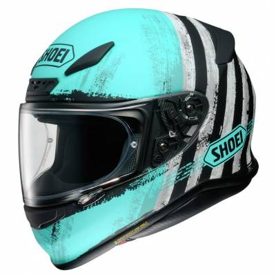 Shoei Helm NXR Shorebreak TC-2, blau-schwarz-weiß