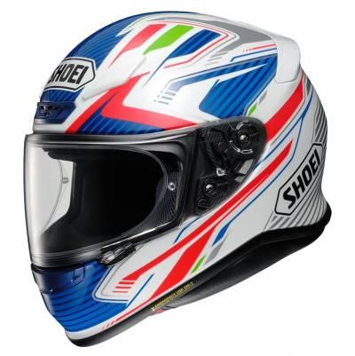 Shoei Helm NXR Stab TC-2, blau-grün-rot-weiß