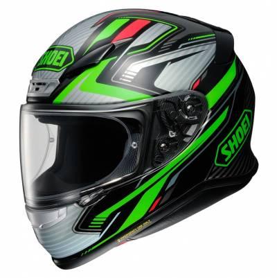 Shoei Helm NXR Stab TC-4, grün-rot-schwarz
