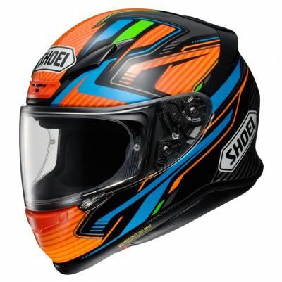 Shoei Helm NXR Stab TC-8, blau-grün-orange