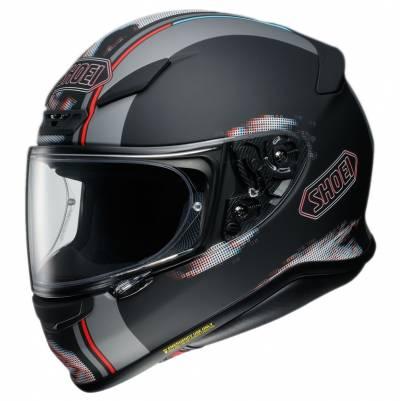Shoei Helm NXR Tale TC-5, schwarz-grau-rot matt