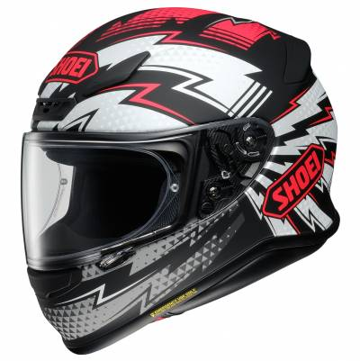 Shoei Helm NXR Variable TC-1, schwarz-weiß-rot