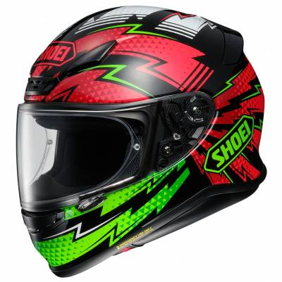 Shoei Helm NXR Variable TC-4, schwarz-rot-grün