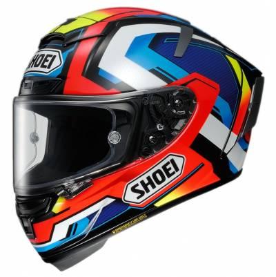 Shoei Helm X-Spirit 3 Brink TC-1, schwarz-blau-rot-gelb