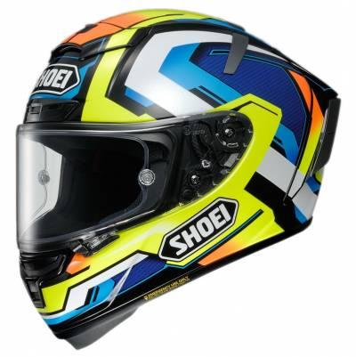 Shoei Helm X-Spirit 3 Brink TC-10, schwarz-blau-gelb-orange