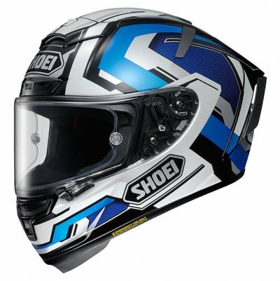 Shoei Helm X-Spirit 3 Brink TC-2, schwarz-blau-weiß