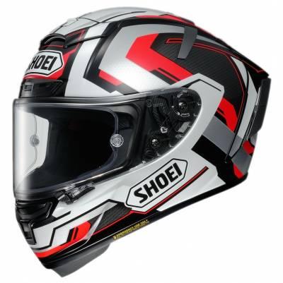 Shoei Helm X-Spirit 3 Brink TC-5, schwarz-rot-weiß