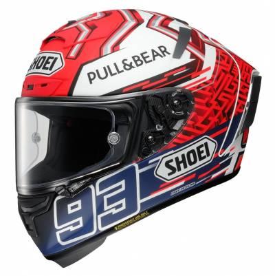 Shoei Helm X-Spirit 3 Marquez 5 TC-1, rot-weiß-blau matt