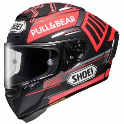 Shoei Helm X-Spirit 3 Marquez Black Concept TC-1, schwarz-rot matt