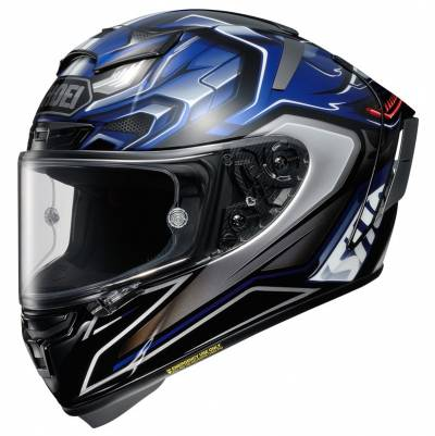 Shoei Helm X-Spirit III Aerodyne TC-2, schwarz-blau