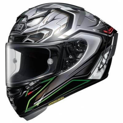 Shoei Helm X-Spirit III Aerodyne TC-4, silber-schwarz-grün