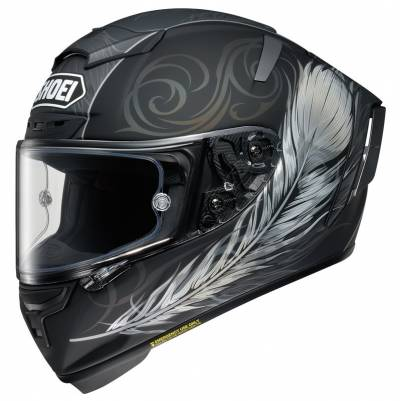 Shoei Helm X-Spirit III Kujaku TC-5, schwarz-weiß matt