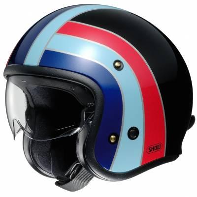 Shoei Jethelm J.O Nostalgia TC-10, schwarz-blau-rot