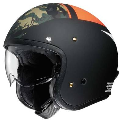 Shoei Jethelm J.O Seafire TC-8, schwarz-orange