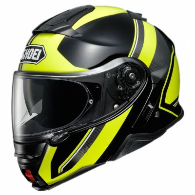 Shoei Klapphelm Neotec II Excursion TC-3, schwarz-fluogelb