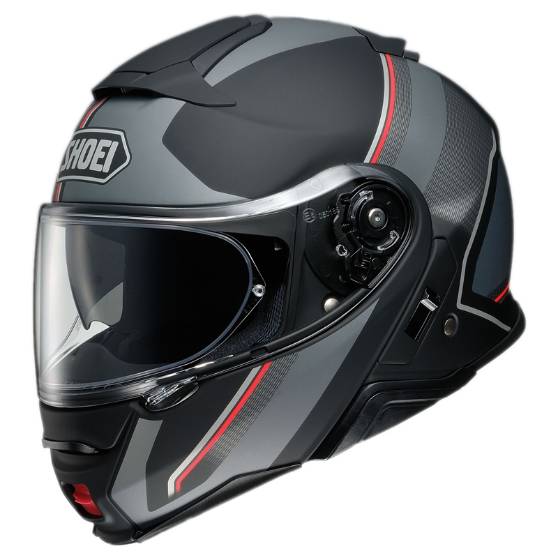 Shoei Klapphelm Neotec II Excursion TC-5, schwarz-grau-rot matt