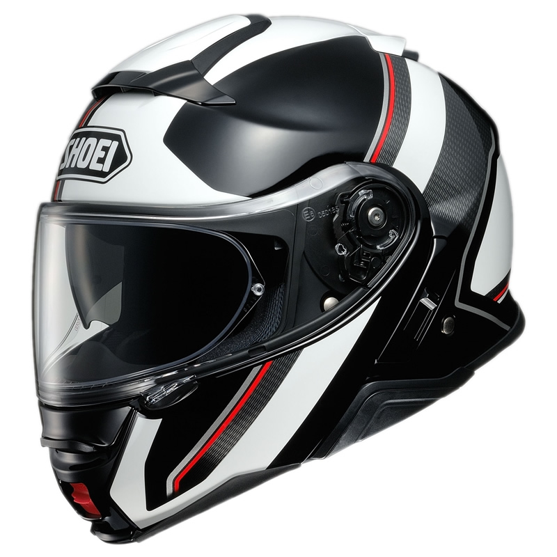 Shoei Klapphelm Neotec II Excursion TC-6, schwarz-weiß-rot