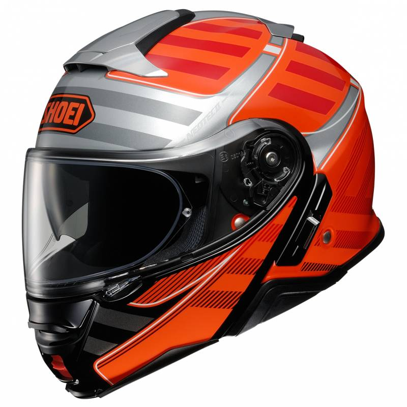 Shoei Klapphelm Neotec II Splicer TC-8, schwarz-orange-silber