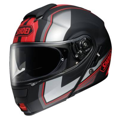 Shoei Klapphelm Neotec Imminent TC1, schwarz-rot