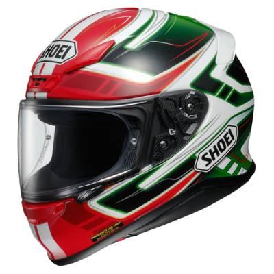 Shoei NXR Valkyrie TC-4, schwarz-rot-grün