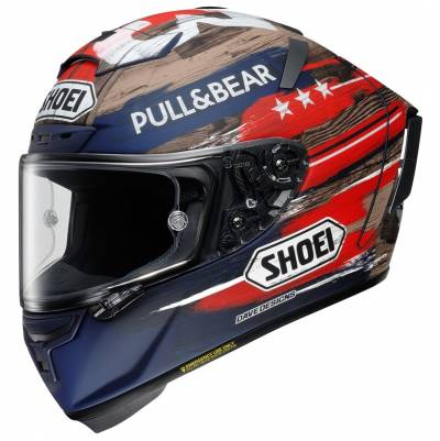 Shoei Shoei Helm X-Spirit 3 Marquez America TC-2 LTD. TC-2 blau-braun-rot