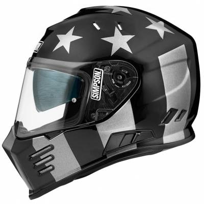 Simpson Helm Venom Subdued F901, schwarz-grau matt