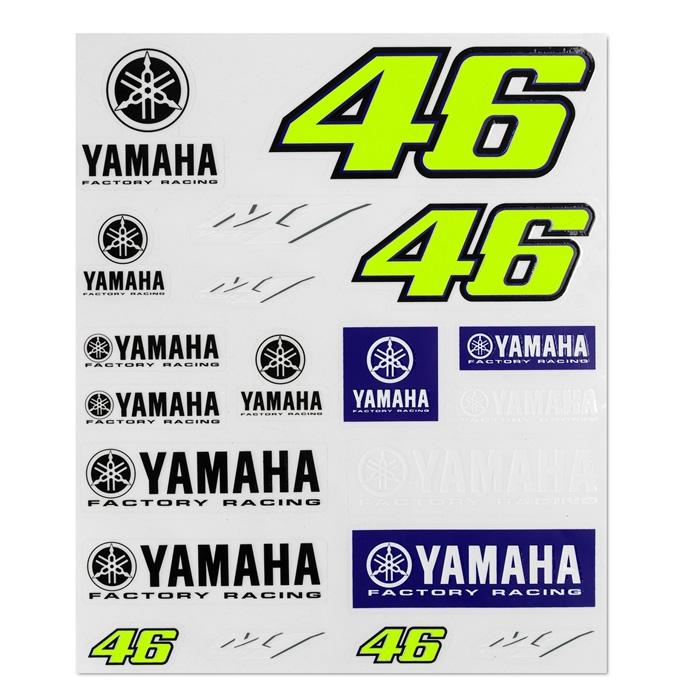 VR46 Aufkleber Yamaha 46, ca. 20cm x 24cm