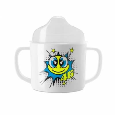 VR46 Baby-Becher White weiß-fluogelb-blau
