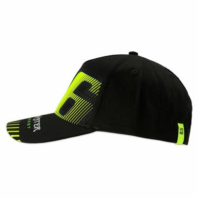 VR46 Cap Black, schwarz-fluogelb