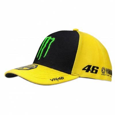 VR46 Cap Monster Yamaha 46, schwarz-gelb-grün
