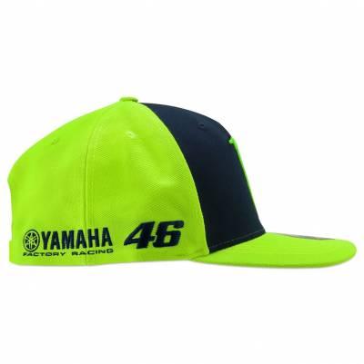 VR46 Cap Sponsor mid visor, fluogelb-blau