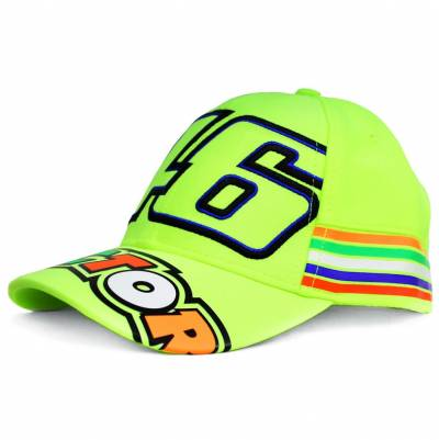 VR46 Cap Stripes Kid Fluo Yellow