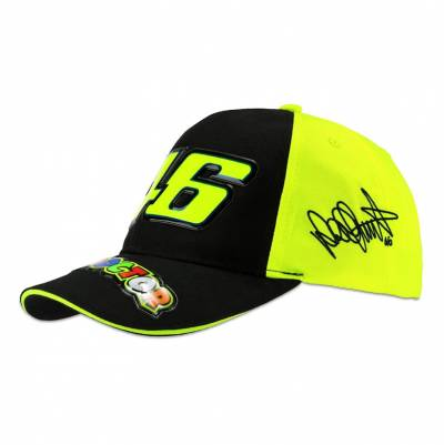 VR46 Kinder Cap The Doctor Race, schwarz-gelb