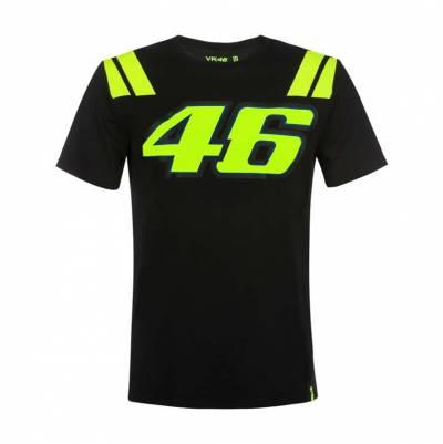 VR46 T-Shirt Black 35VRM schwarz-fluogelb