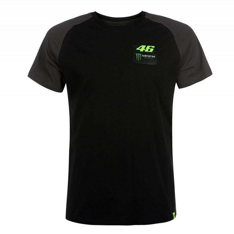 VR46 T-Shirt Black, schwarz-fluogelb